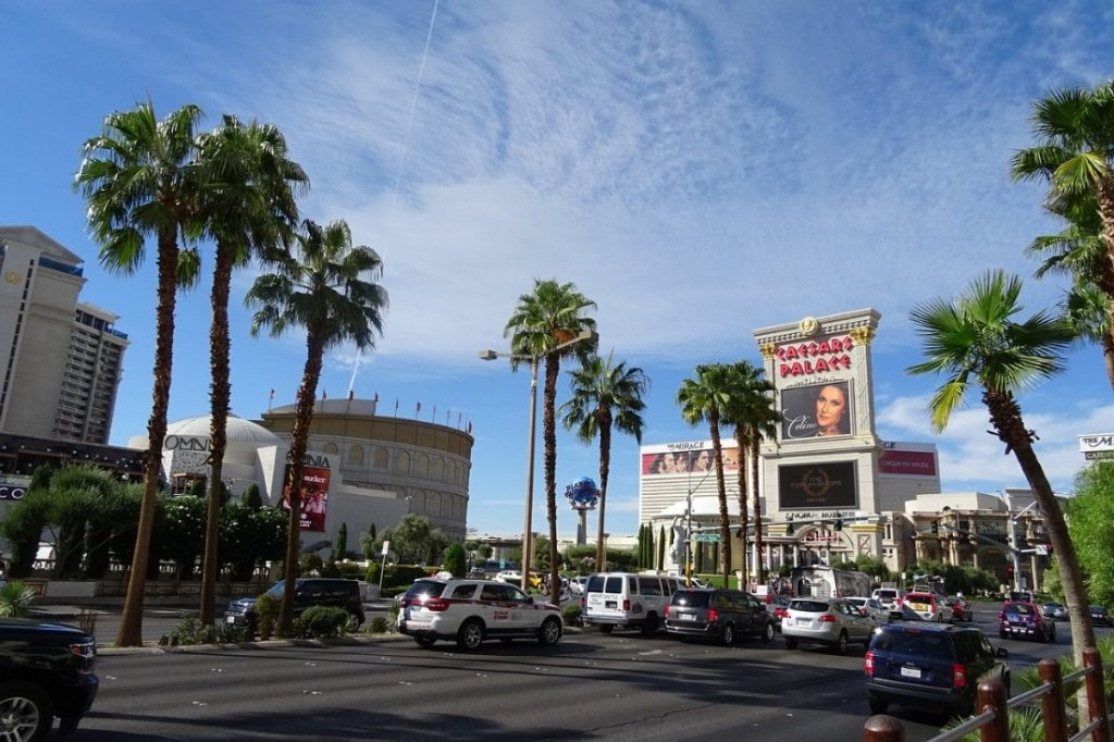 Dirigindo em Las Vegas Strip