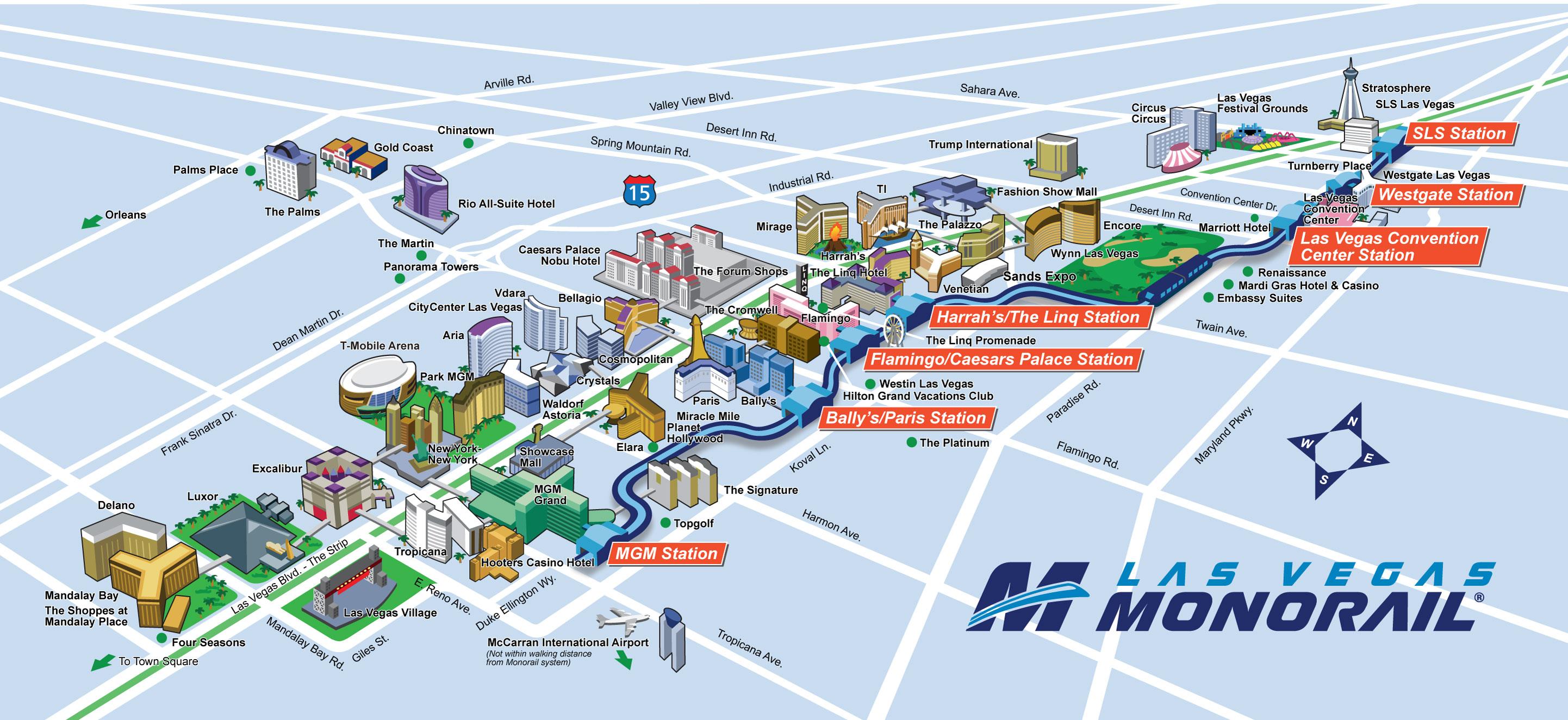 Monorail Las Vegas como funciona