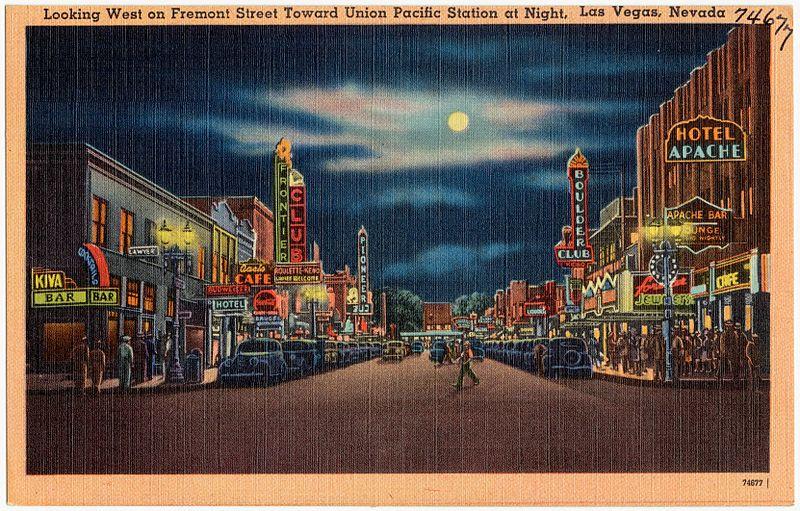 Downtown Las Vegas nos anos 30